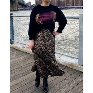 Zara Dream Fearlessly Graphic Black Sweatshirt